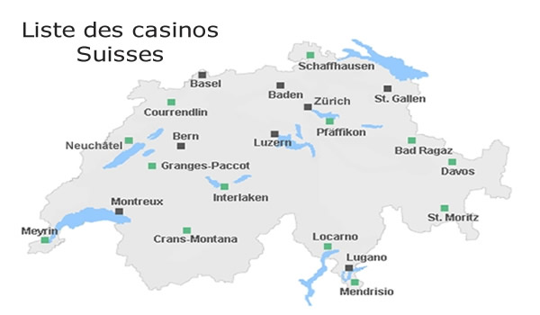 liste des casinos en suisses